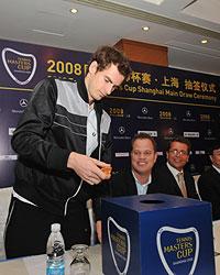 Andy Murray en el sorteo de la Masters Cup