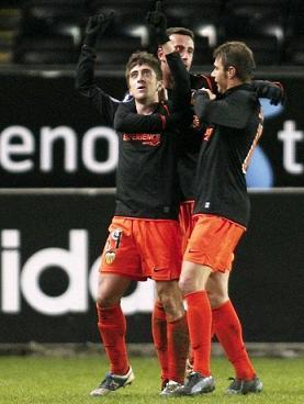 Pablo en el Valencia Rosenborg