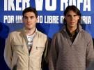 Iker Casillas y Rafa Nadal presentan el reto solidario contra la malaria