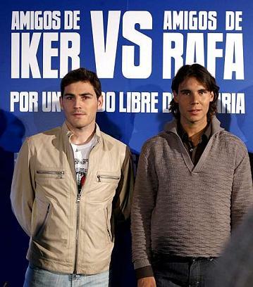 Iker Casillas y Rafa Nadal presentaron el reto contra la malaria