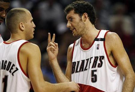 Rudy Fernadez y Sergio Rodriguez en Portland