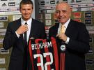 David Beckham fue presentado como nuevo jugador del Milán
