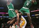 Bryant y Gasol lideran la victoria de los Lakers ante los Celtics por 92-83