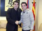 Xavi Hernández renovó con el F. C. Barcelona hasta el 2014