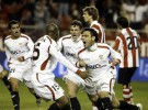 El Sevilla ganó 2-1 al Athletic de Bilbao en la ida de las semifinales de la Copa del Rey
