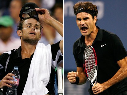 Federer venció a Roddick en su partido de cuartos de final
