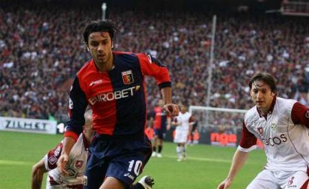 Rafaelle Palladino marcó el gol del triunfo del Genoa