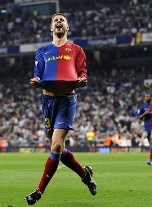 Gerard Pique, central del F.C. Barcelona