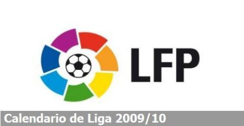 Calendario Liga Futbol2009/2010