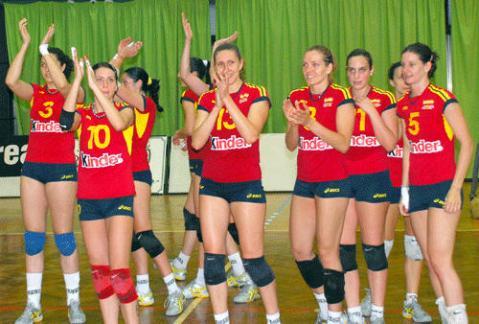La selección femenina de voleibol, preparada para la segunda ronda del Campeonato de Europa