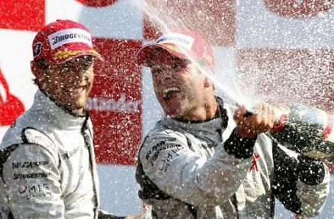 Barrichello gana en Monza y Alonso ocupa la quinta plaza