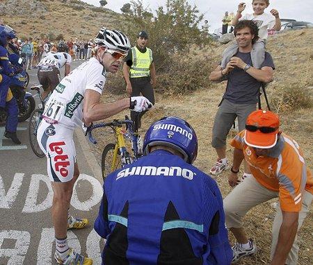 Vuelta a España 09 Etapa 13: Moncoutie, Evans y un oportuno pinchazo