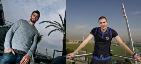 Entrevistas a Gerard Piqué y Karim Benzema antes del derbi entre FC Barcelona y Real Madrid