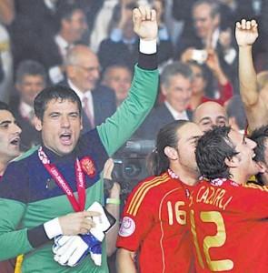 Palop llevó la camiseta con la que Arconada disputó la Eurocopa del 84
