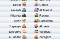Liga Española 2009/10 1ª División: horarios y retransmisiones de la Jornada 15