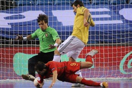 España venció 6-1 a Portugal en la Eurocopa de Fútbol Sala