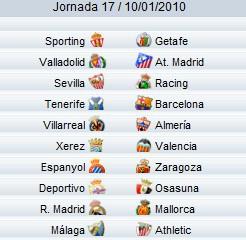 Liga Española 1 Division - Jornada 17