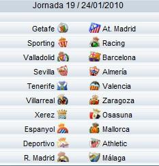 Partidos de la Jornada19 de Liga
