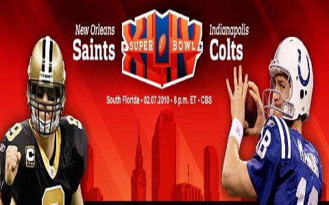Super Bowl: Indianapolis Colts vs. New Orleans Saints