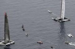 La primera regata de la Copa América se suspende por problemas con el viento