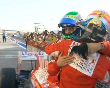 Alonso y Massa, en ese orden, lograron la primera victoria para Ferrari en el GP de Bahrein