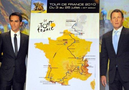 Alberto Contador y Lance Armstrong serán rivales en el Tour de Francia 2010