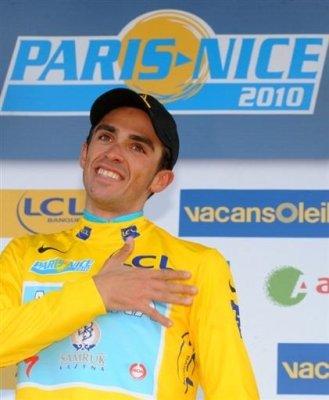 Alberto Contador se proclamó campeón en la París-Niza 2010