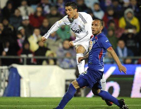 Cristiano Ronaldo marcó dos goles al Getafe