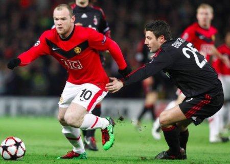 Rooney ha logrado 4 goles en el global de la eliminatoria frente al Milan