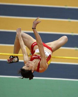 Ruth Beitia ha logrado la medalla de plata en salto de altura en el Mundial Indoor de Doha 2010