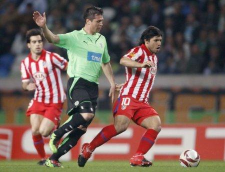 Agüero fue el mejor del Atlético con dos goles que valieron para la clasificación a cuartos