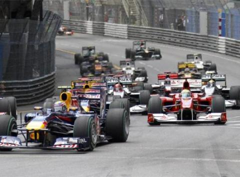 Salida de la carrera de Monaco