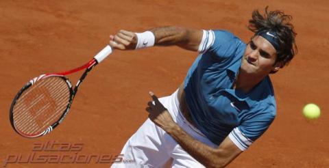 Federer ya esta en cuartos de final de Roland Garros