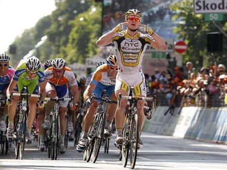 Andre Greipel logró la primera victoria en la última oportunidad para los sprinters