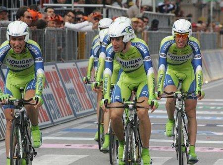 La formación Liquigas ha ganado la contrarreloj por equipos del Giro de Italia 2010