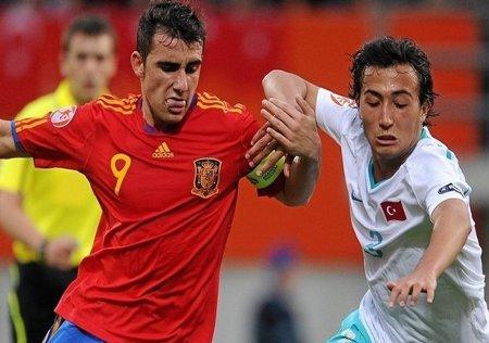 Los goles de Paco Alcacer volvieron a ser determinantes para el triunfo de la selección española