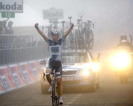 El danés Sorensen ganó bajo la niebla en la cima del Monte Terminillo