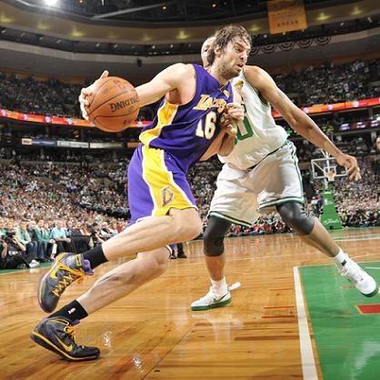 Gasol en el cuarto partido de la Final NBA