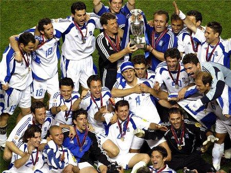El mayor éxito de la selección de Grecia fue ganar la Eurocopa de 2004