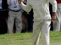 US Open de Golf: Dustin Johnson es el líder tras una tercera jornada en la que resurgió Tiger Woods