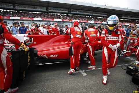 Ferrari empieza bien en el GP Alemania