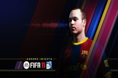 Andrés Iniesta, portada del videojuego FIFA 2011