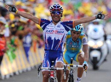 Joaquim Rodríguez batió a Alberto Contador para lograr la primera victoria española en el Tour