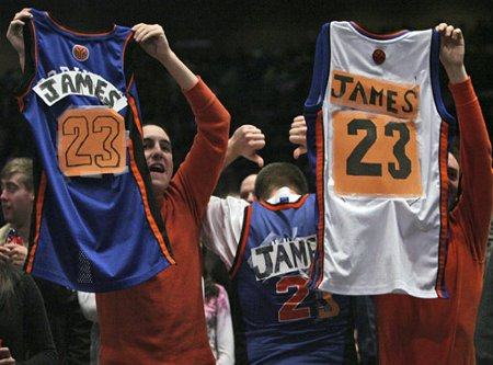 Los fans de los Knicks soñaban con ver a Lebron James en New York