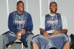 LeBron y Wade se dejan ver pero siguen sin hablar