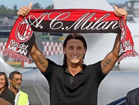 Zlatan Ibrahimovic ya luce como jugador del AC Milan