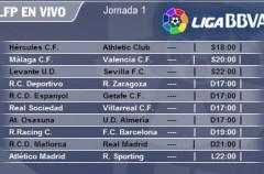 Liga Española 2010/11 1ª División: previa, horarios y retransmisiones de la Jornada 1