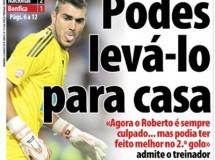 Ligas Europeas: el vía-crucis de Roberto en el Benfica