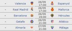 Liga Española 2010/2011 Jornada 5: horarios y retransmisiones con Levante-Real Madrid y Athletic-Barcelona
