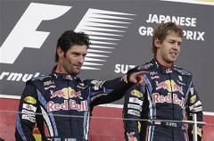 GP de Japón de Fórmula 1: Vettel lidera el doblete de Red Bull y Fernando Alonso es tercero